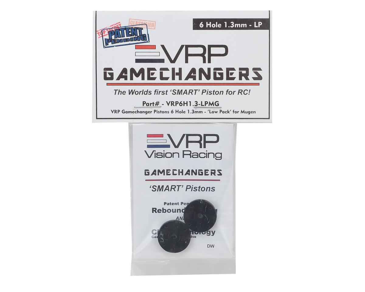 "VRP Mugen 1/8 ""Gamechanger"" Piston (2) (1.3mm x 6 Hole) (Low Pack)"