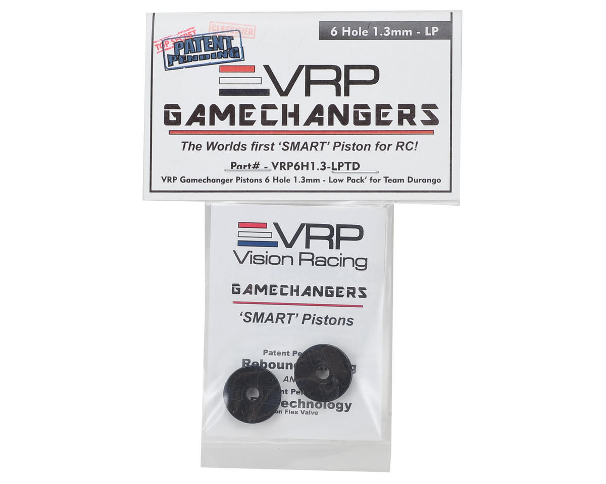 "VRP Team Durango 1/8 ""Gamechanger"" Piston (2) (1.3mm x 6 Hole) (Low Pack)"
