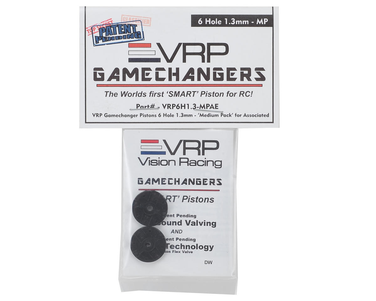 "VRP RC8B3 1/8 ""Gamechanger"" Piston (2) (1.3mm x 6 Hole) (Medium Pack)"