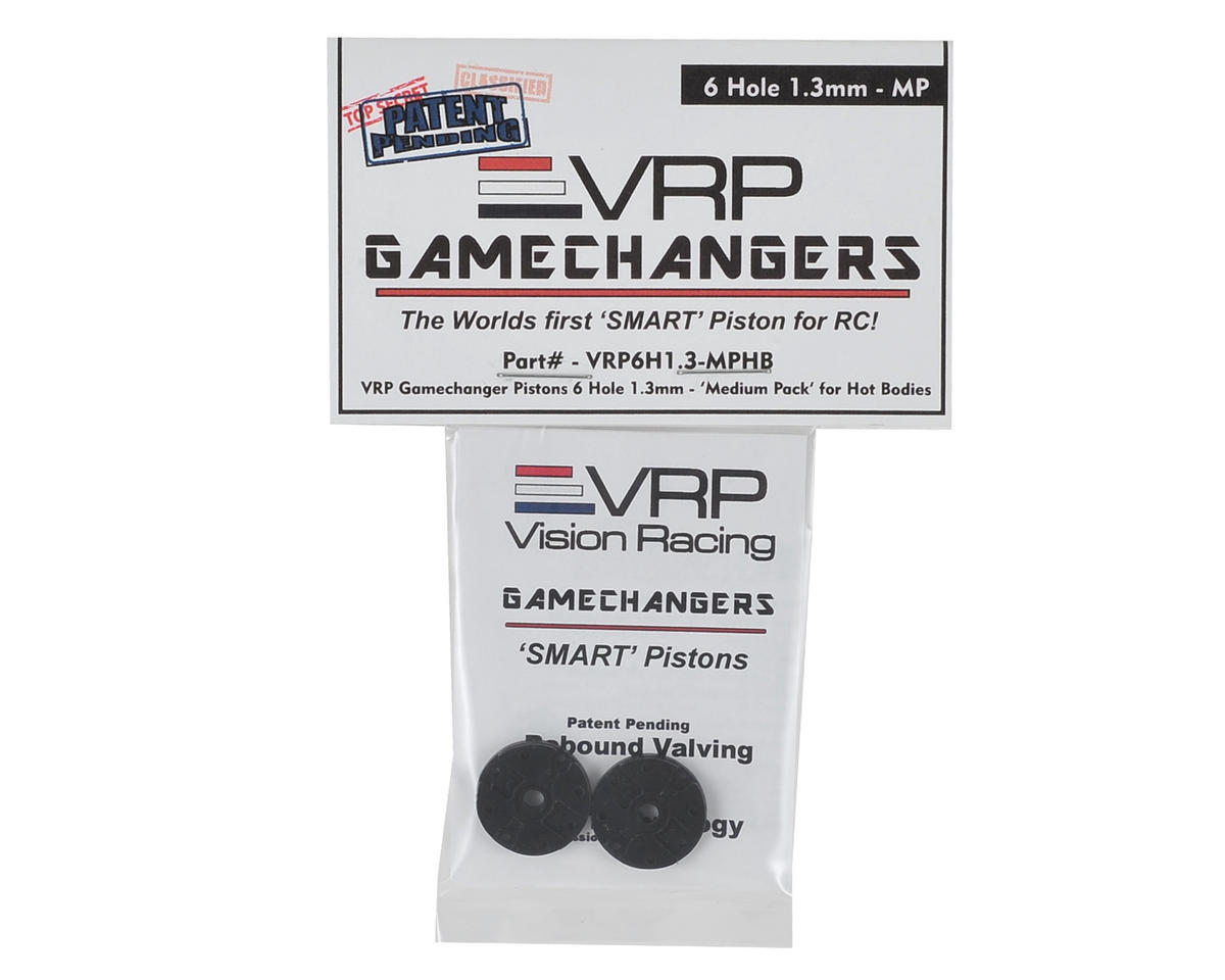 "VRP D815 1/8 ""Gamechanger"" Piston (2) (1.3mm x 6 Hole) (Medium Pack)"