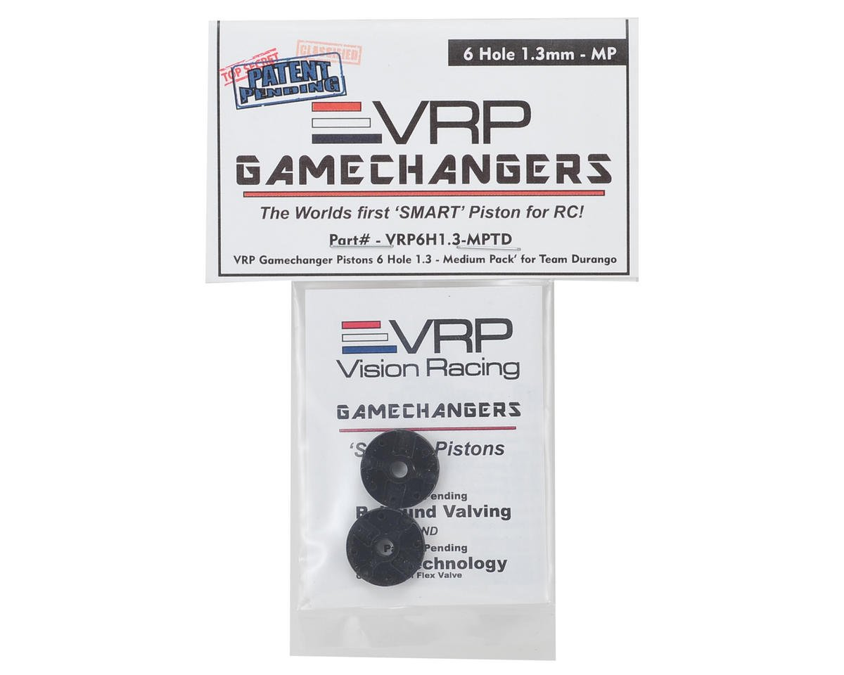 "VRP Team Durango 1/8 ""Gamechanger"" Piston (2) (1.3mm x 6 Hole) (Medium Pack)"