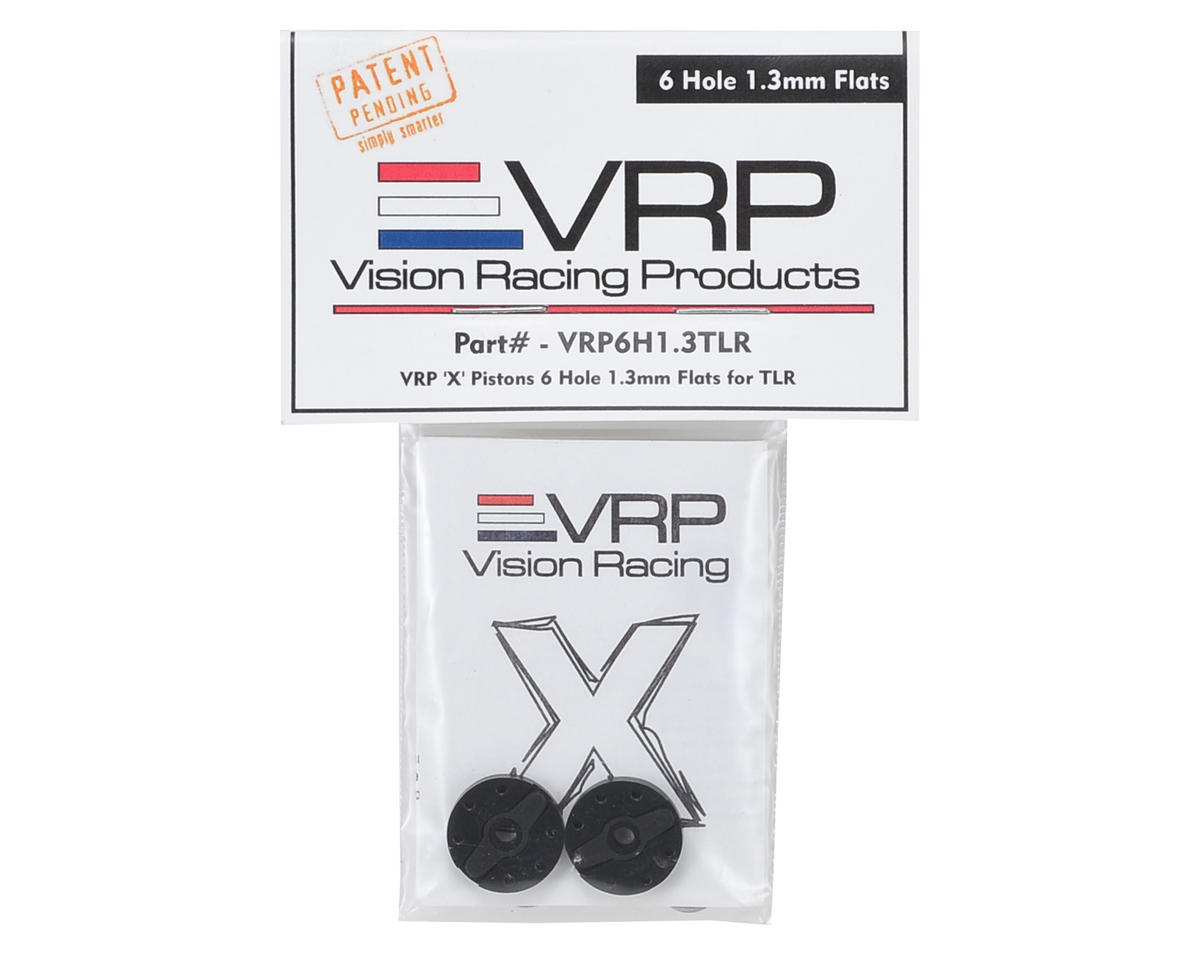 "VRP TLR 8IGHT 1/8 ""X V2"" Shock Piston (2) (1.3mm x 6 Hole)"