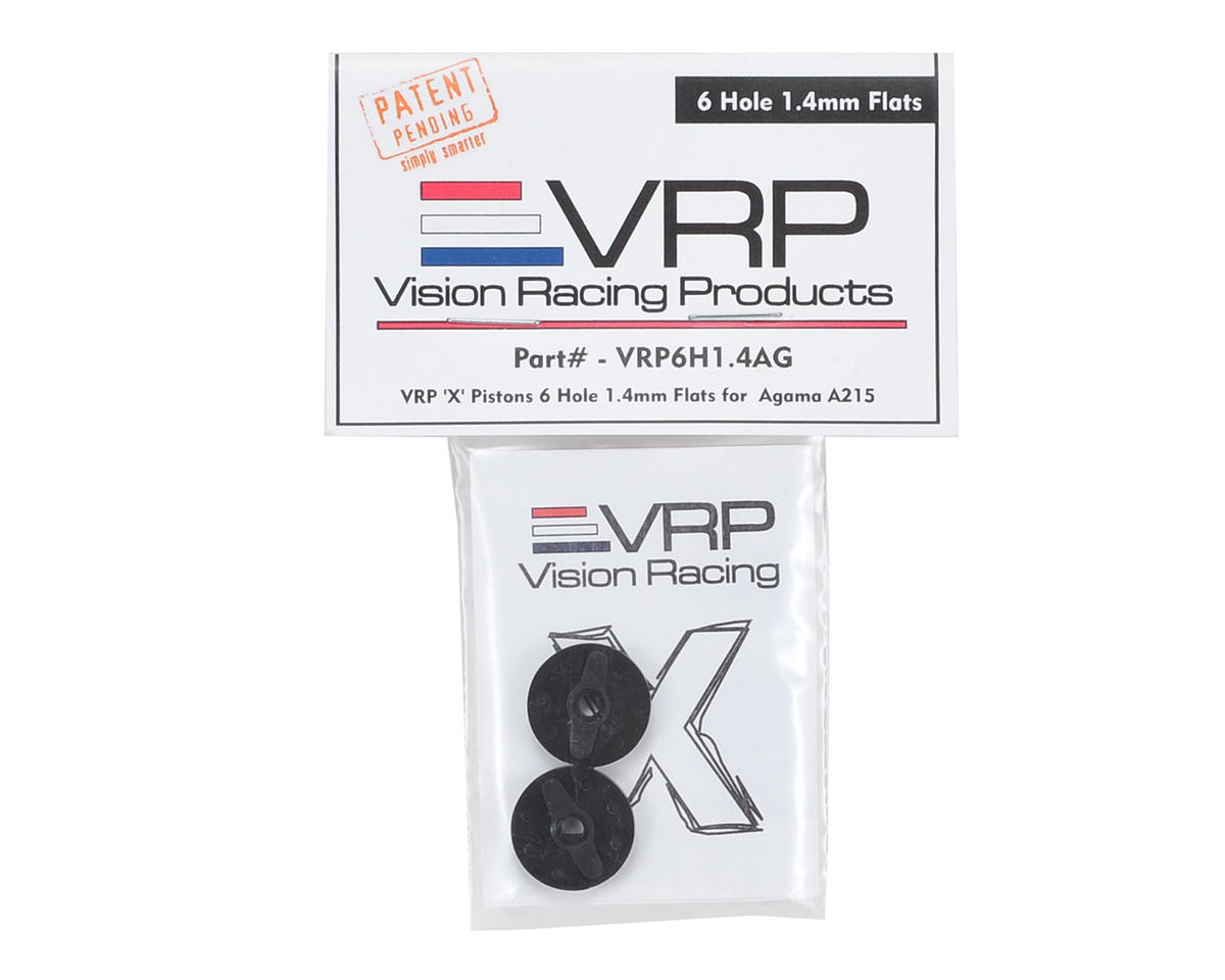 "VRP Agama A215 1/8 ""X V2"" Shock Piston (2) (1.4mm x 6 Hole)"