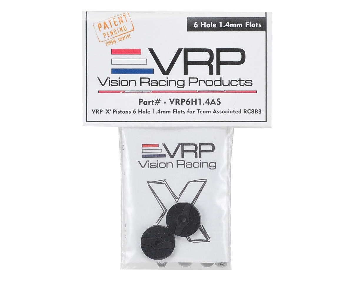 "VRP Associated RC8B3 1/8 ""X V2"" Shock Piston (2) (1.4mm x 6 Hole)"