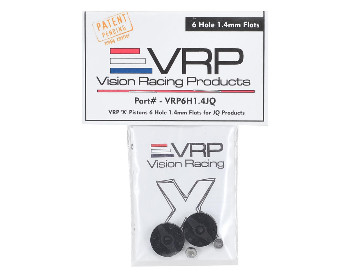 "VRP JQ Big Bore 1/8 ""X V2"" Shock Piston (2) (1.4mm x 6 Hole)"