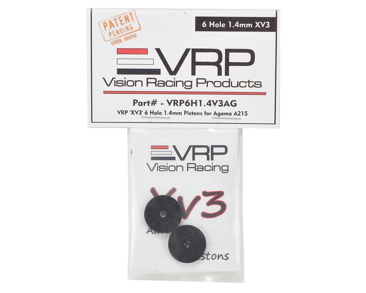 "Agama A216 1/8 ""X V3"" Shock Piston (2) (1.4mm x 6 Hole) by VRP"