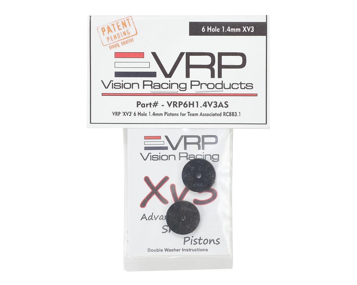 "VRP Associated RC8B3 1/8 ""X V3"" Shock Piston (2) (1.4mm x 6 Hole)"