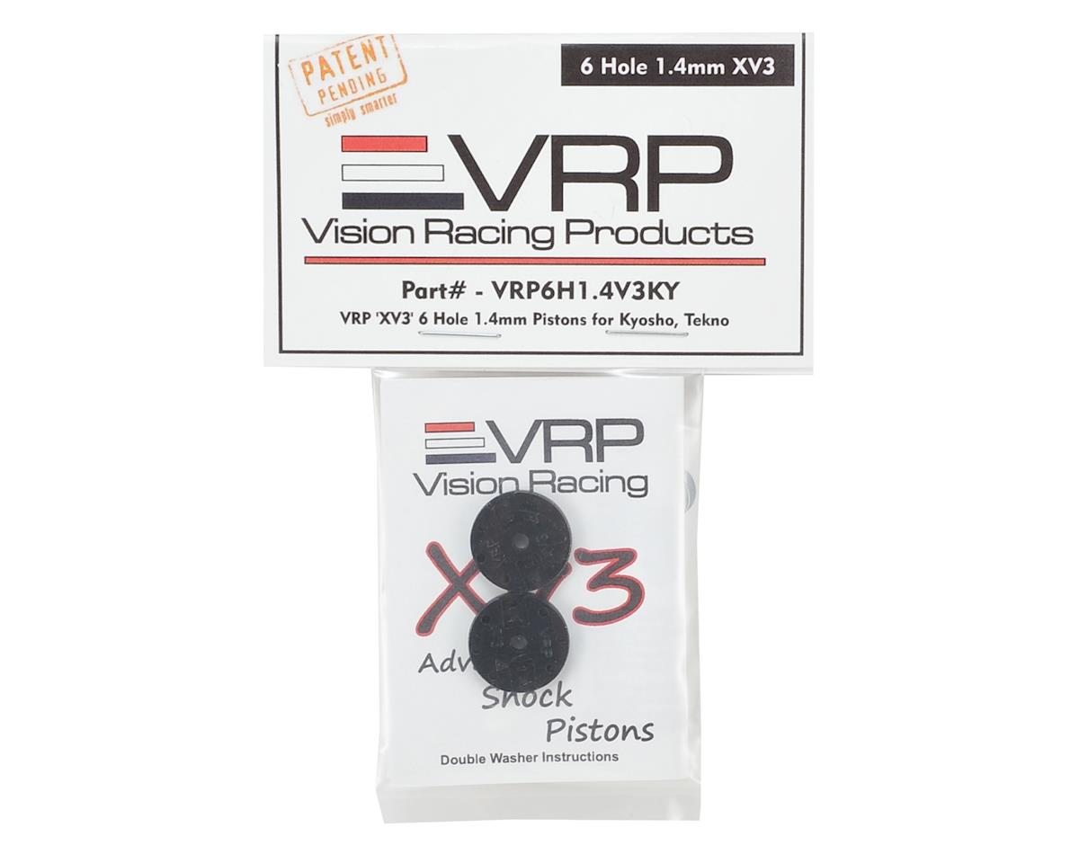 "VRP Kyosho/XRAY/Tekno 1/8 ""X V3"" Shock Piston (2) (1.4mm x 6 Hole)"