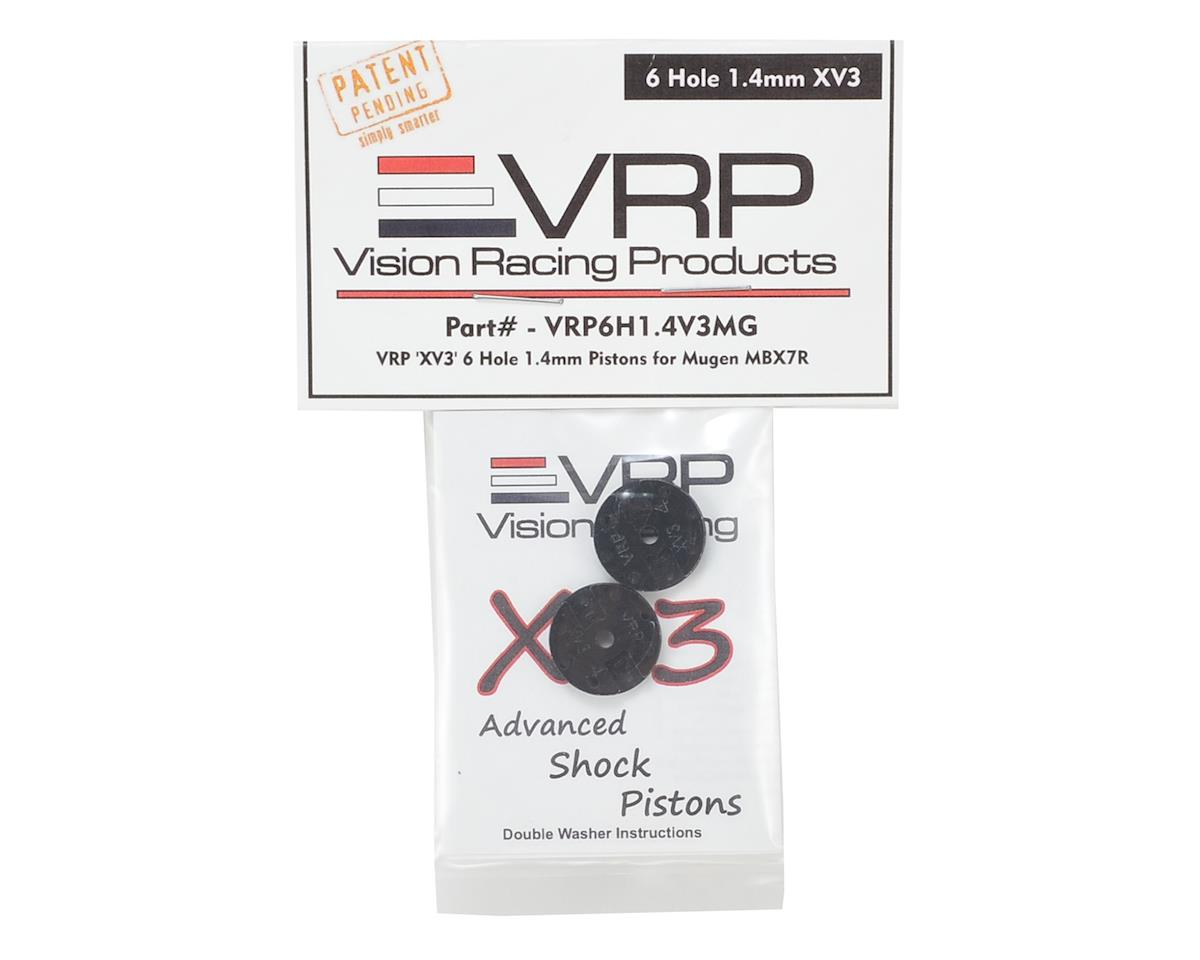 "VRP Mugen 1/8 ""X V3"" Shock Piston (2) (1.4mm x 6 Hole)"