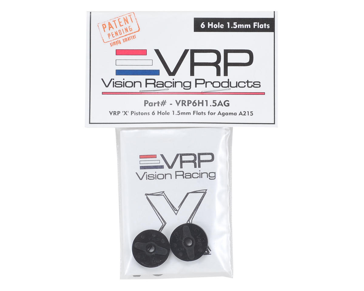 "VRP Agama A215 1/8 ""X V2"" Shock Piston (2) (1.5mm x 6 Hole)"