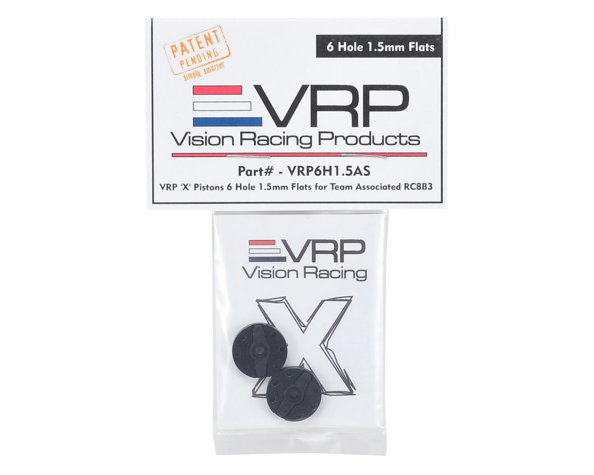 "VRP Associated RC8B3 1/8 ""X V2"" Shock Piston (2) (1.5mm x 6 Hole)"