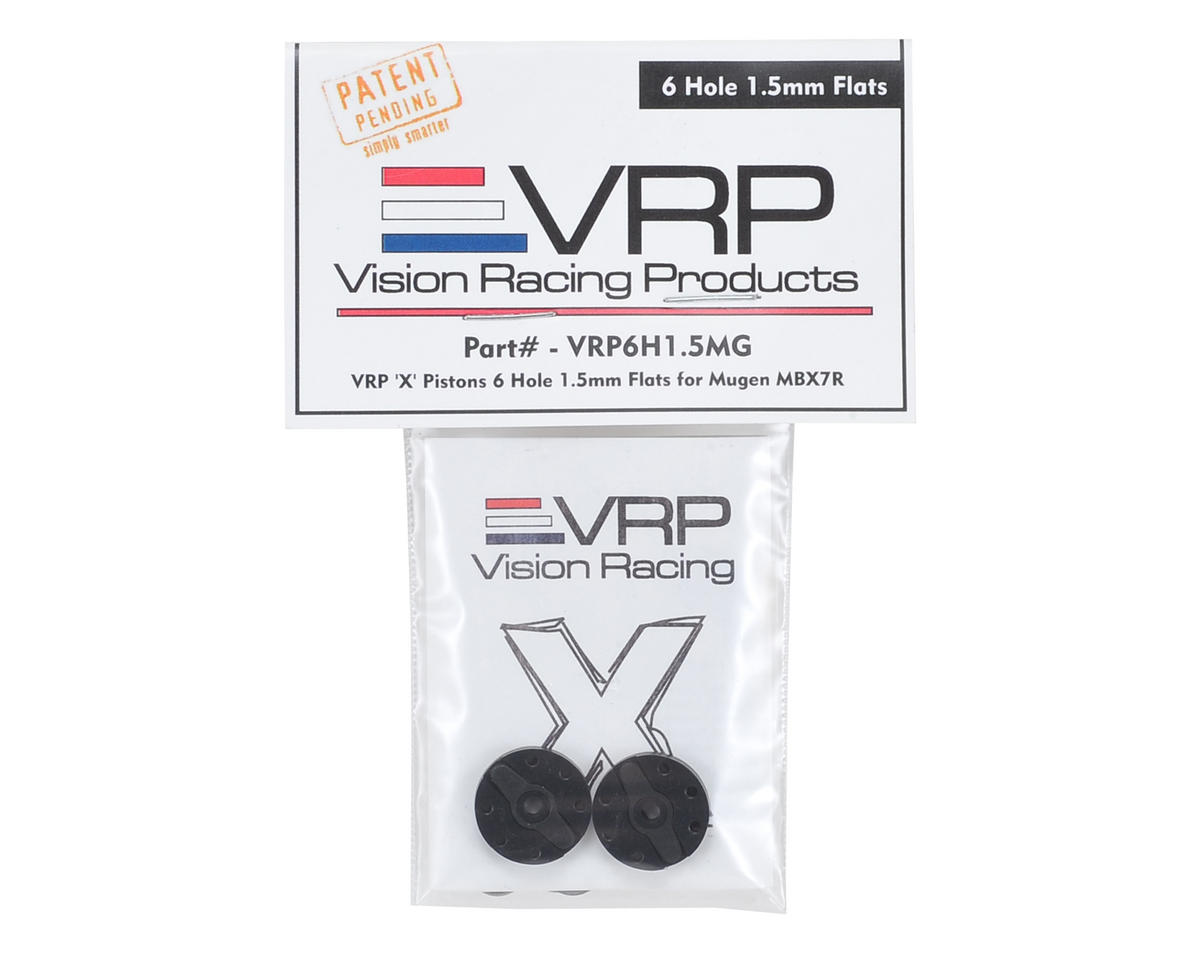 "VRP Mugen 1/8 ""X V2"" Shock Piston (2) (1.5mm x 6 Hole)"