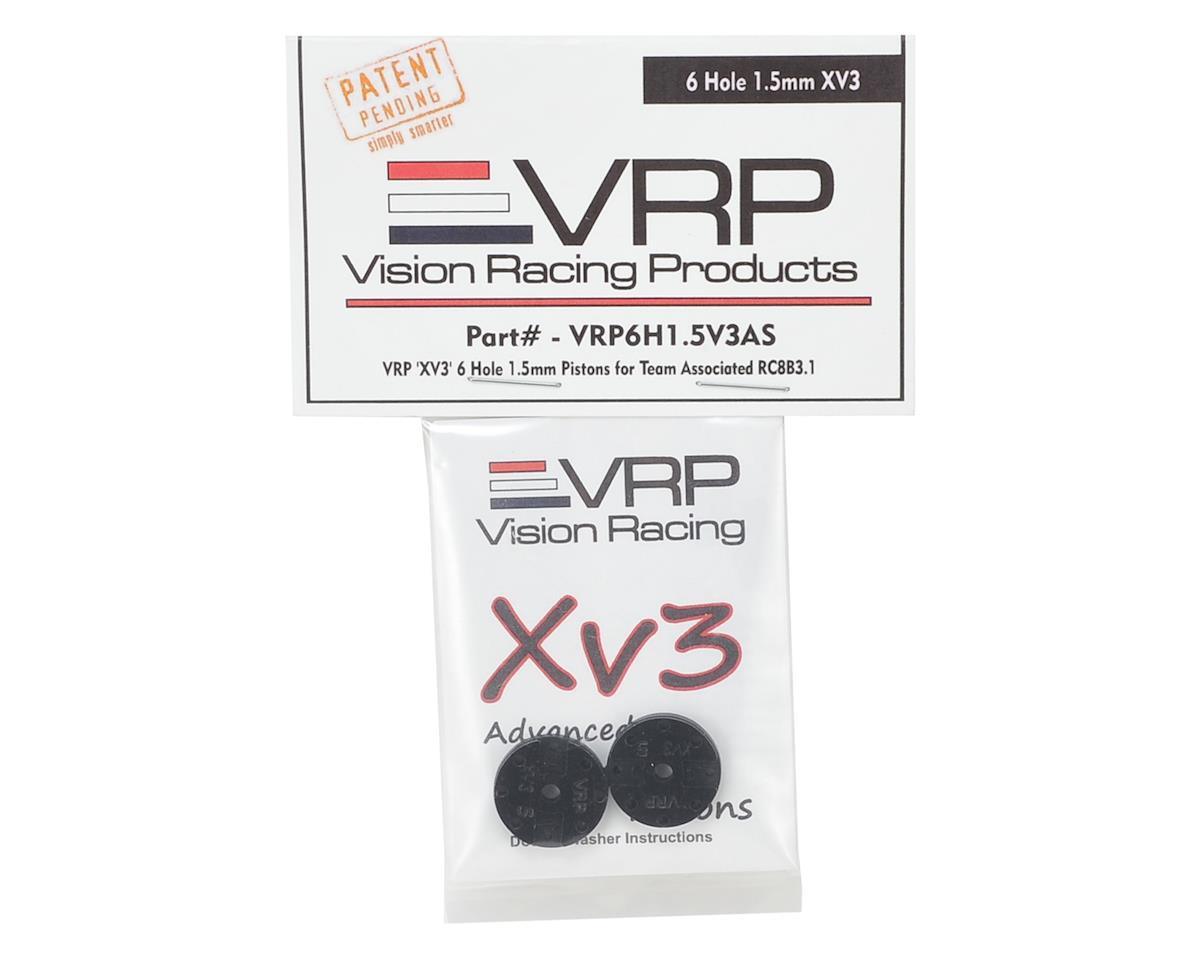 "VRP Associated RC8B3 1/8 ""X V3"" Shock Piston (2) (1.5mm x 6 Hole)"