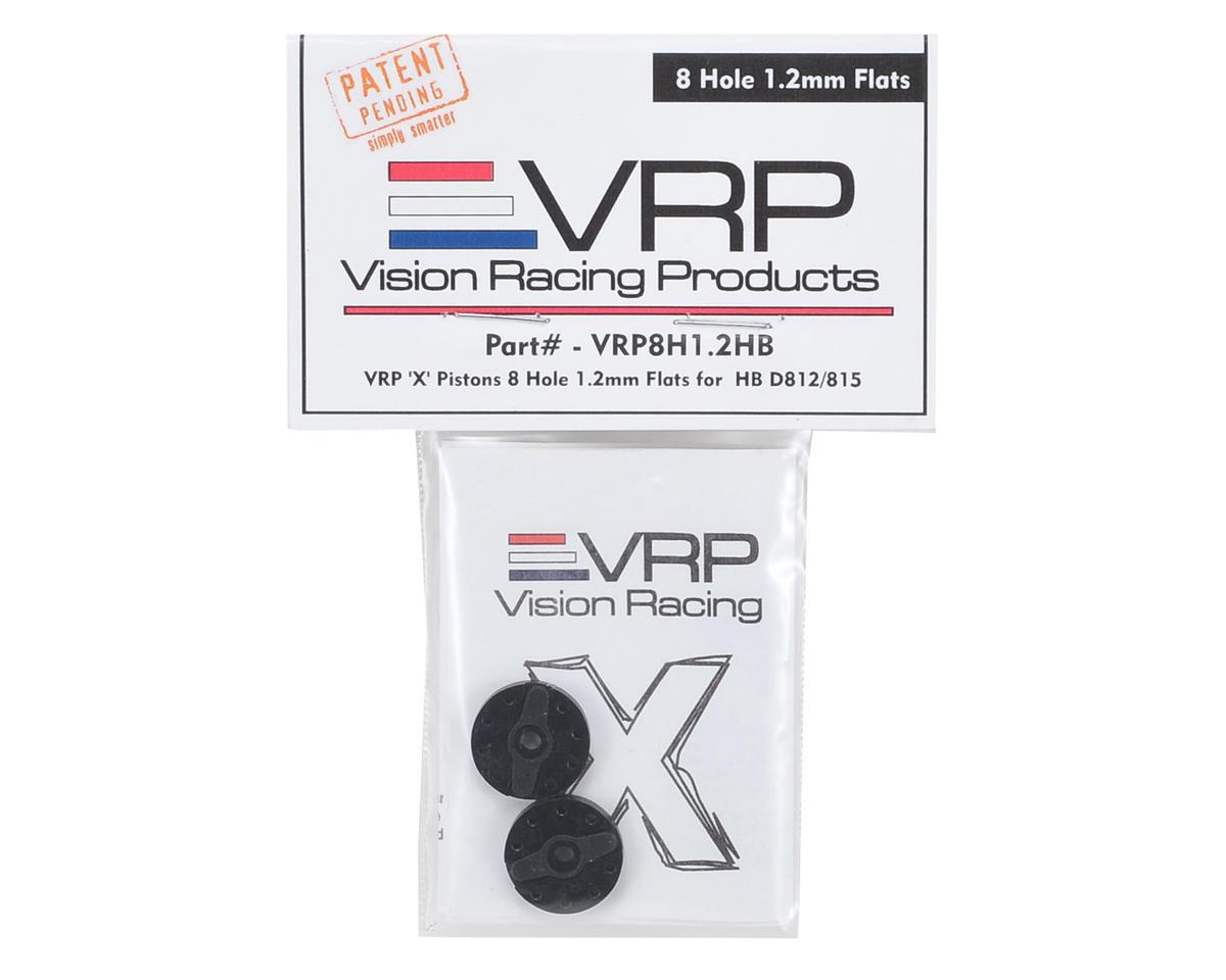 "VRP Hot Bodies D8 1/8 ""X V2"" Shock Piston (2) (1.2mm x 8 Hole)"