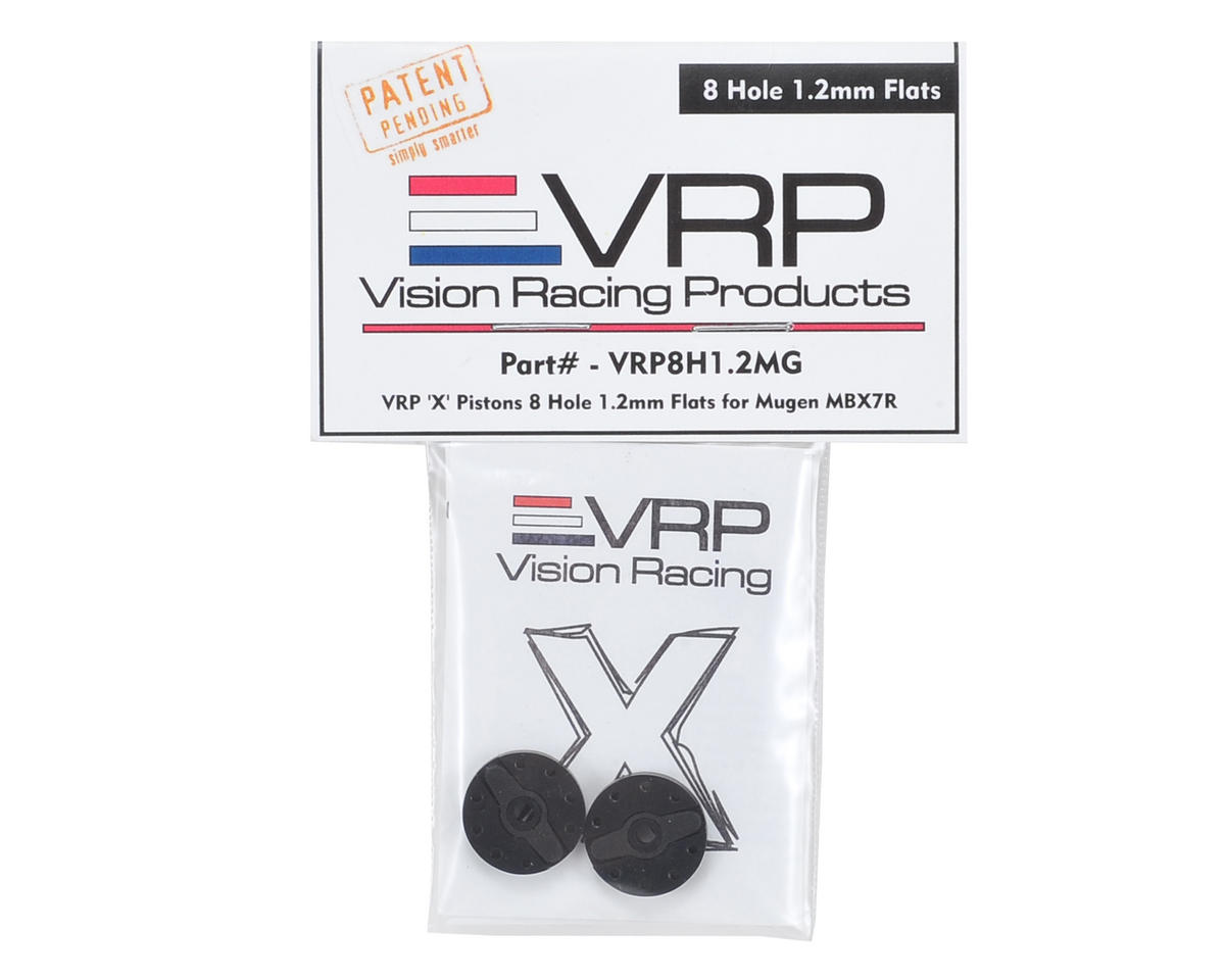 "VRP Mugen 1/8 ""X V2"" Shock Piston (2) (1.2mm x 8 Hole)"