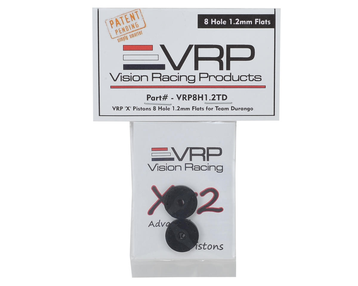 "VRP DNX8/DEX8 1/8 ""X V2"" Shock Piston (2) (1.2mm x 8 Hole)"