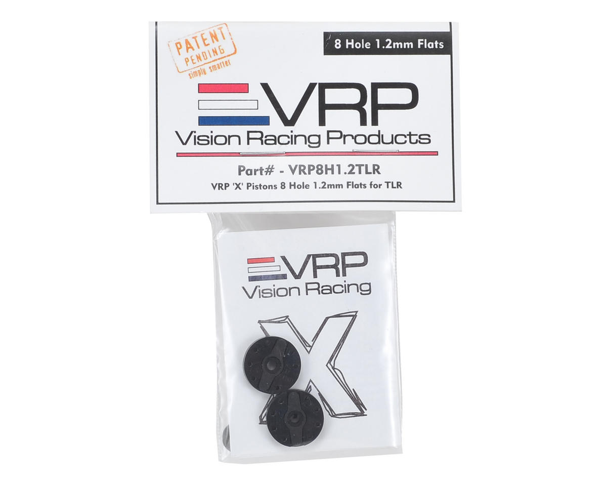 "VRP TLR 8IGHT 1/8 ""X V2"" Shock Piston (2) (1.2mm x 8 Hole)"
