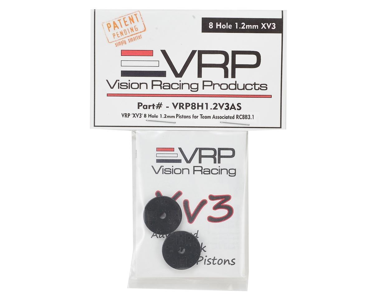"VRP Associated RC8B3 1/8 ""X V3"" Shock Piston (2) (1.2mm x 8 Hole)"