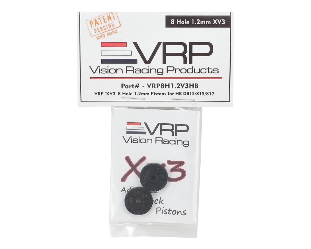 "VRP Hot Bodies D8 1/8 ""X V3"" Shock Piston (2) (1.2mm x 8 Hole)"