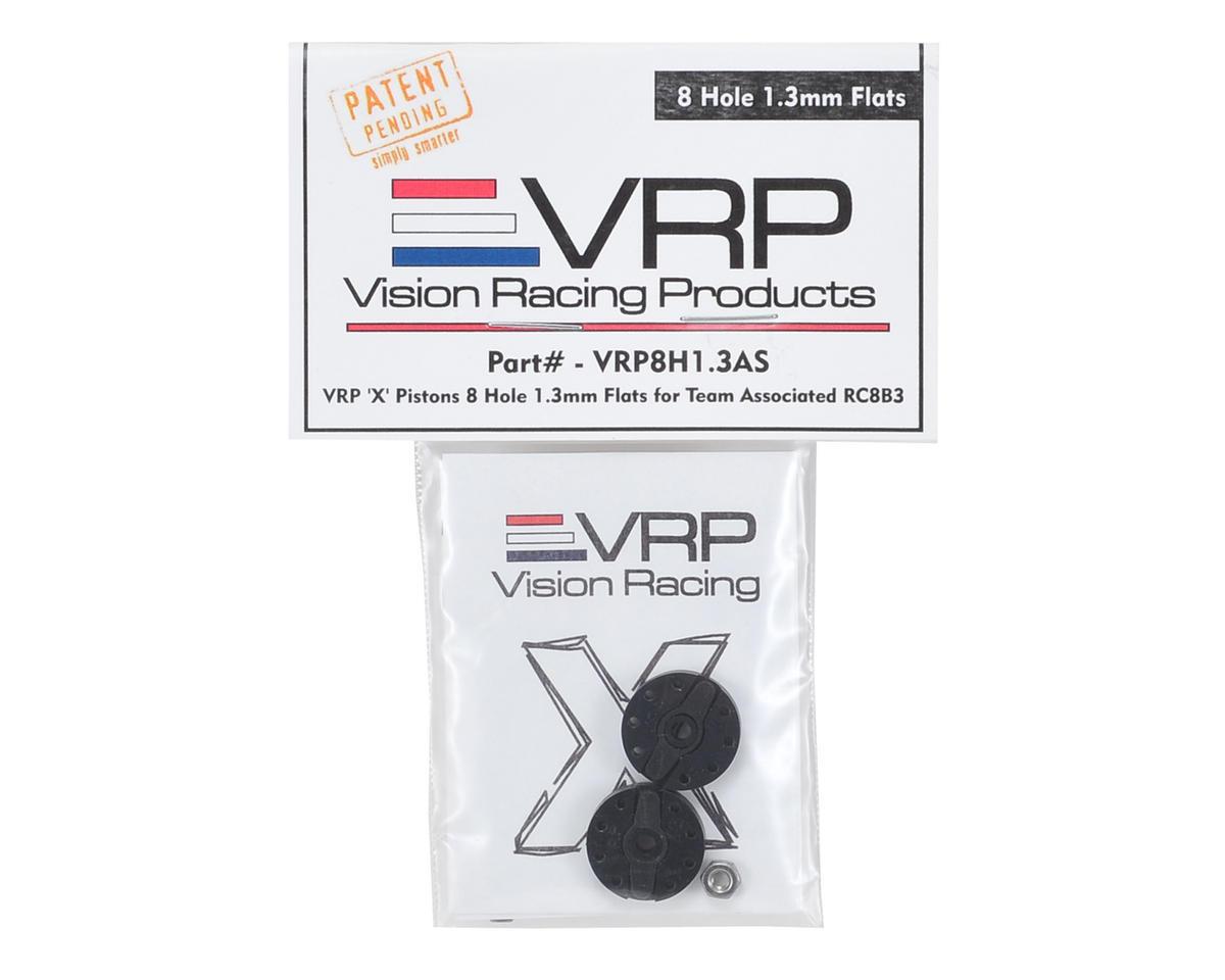 "VRP Associated RC8B3 1/8 ""X V2"" Shock Piston (2) (1.3mm x 8 Hole)"