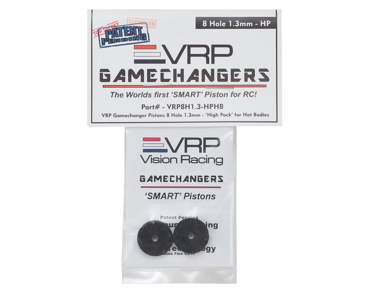"VRP D815 1/8 ""Gamechanger"" Piston (2) (1.3mm x 8 Hole) (High Pack)"