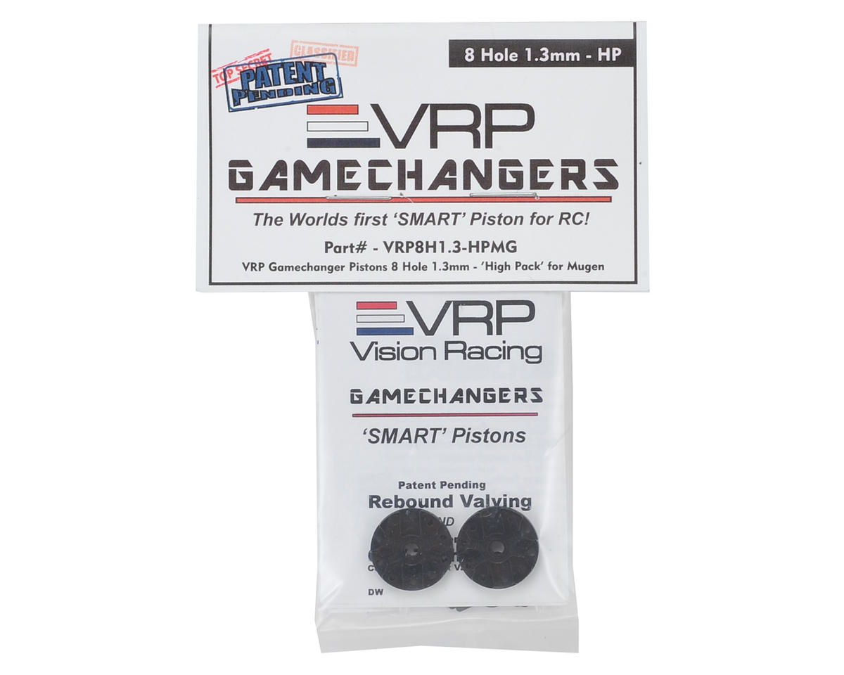 "VRP Mugen 1/8 ""Gamechanger"" Piston (2) (1.3mm x 8 Hole) (High Pack)"