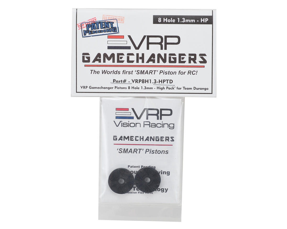 "VRP Team Durango 1/8 ""Gamechanger"" Piston (2) (1.3mm x 8 Hole) (High Pack)"