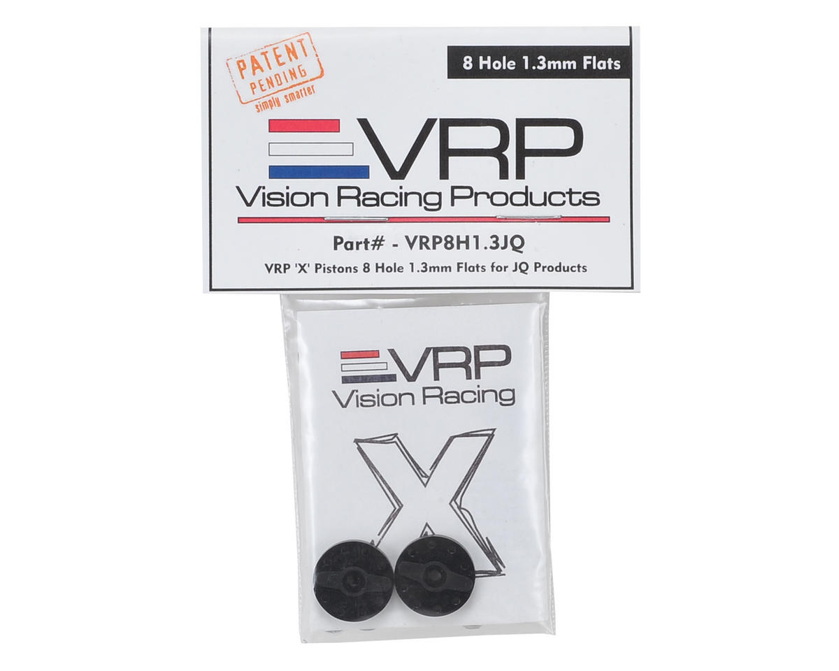 "VRP JQ Big Bore 1/8 ""X V2"" Shock Piston (2) (1.3mm x 8 Hole)"