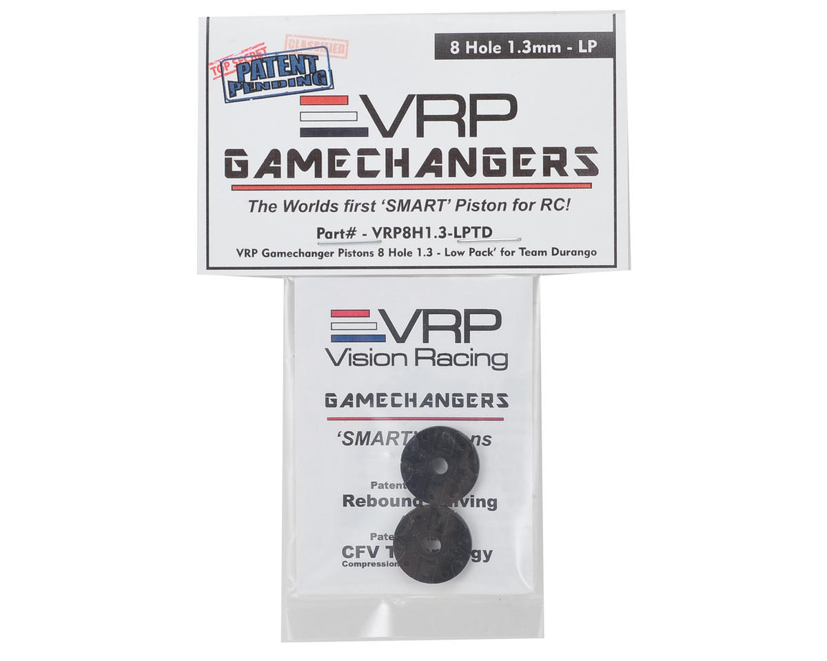 "VRP Team Durango 1/8 ""Gamechanger"" Piston (2) (1.3mm x 8 Hole) (Low Pack)"