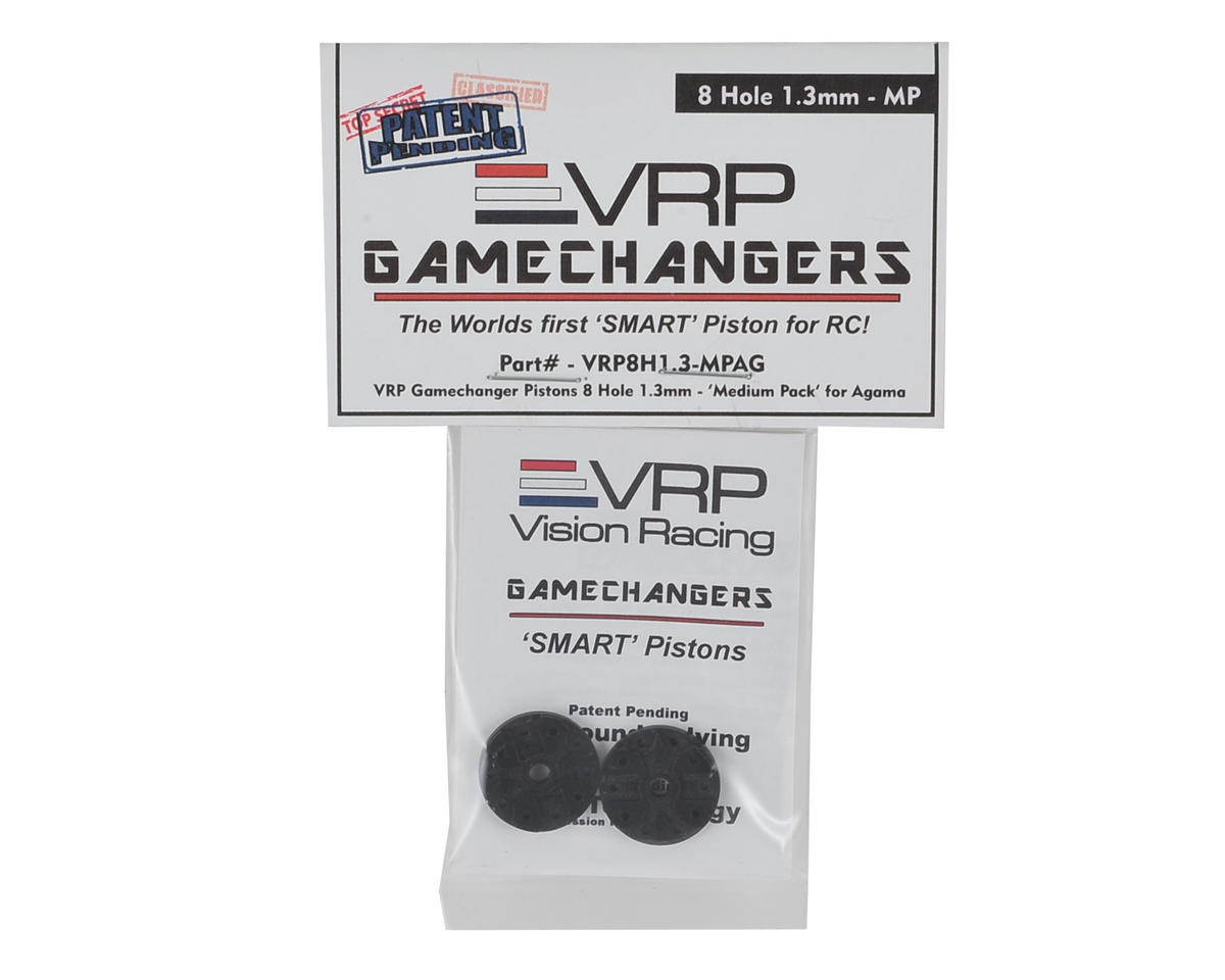 "VRP A215 1/8 ""Gamechanger"" Piston (2) (1.3mm x 8 Hole) (Medium Pack)"