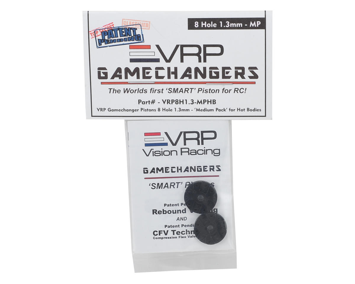 "VRP D815 1/8 ""Gamechanger"" Piston (2) (1.3mm x 8 Hole) (Medium Pack)"