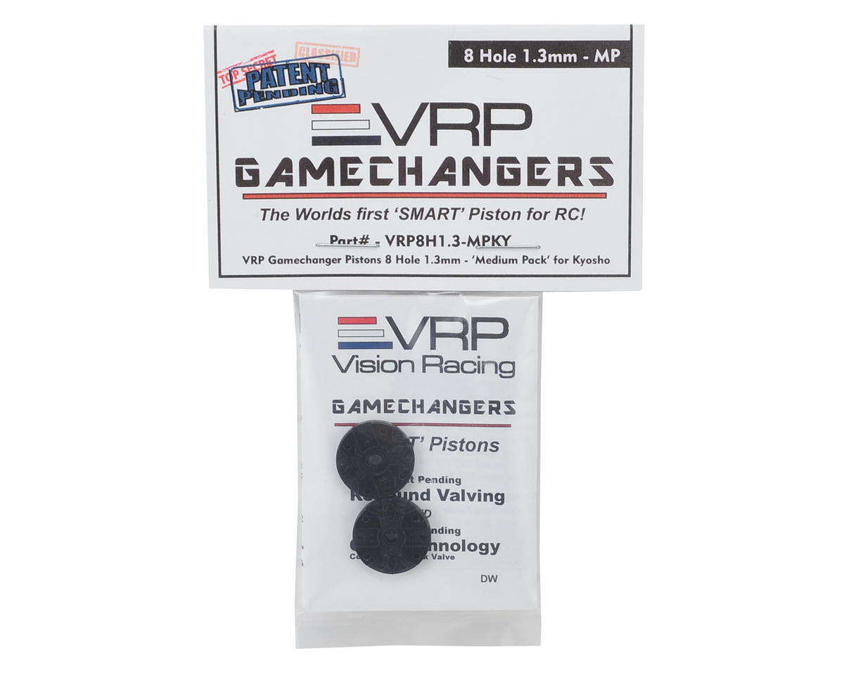 "VRP KYO/XRAY/Tekno 1/8 ""Gamechanger"" Piston (2) (1.3mm x 8 Hole) (Medium Pack)"