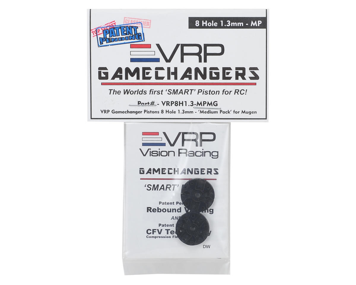 "VRP Mugen 1/8 ""Gamechanger"" Piston (2) (1.3mm x 8 Hole) (Medium Pack)"