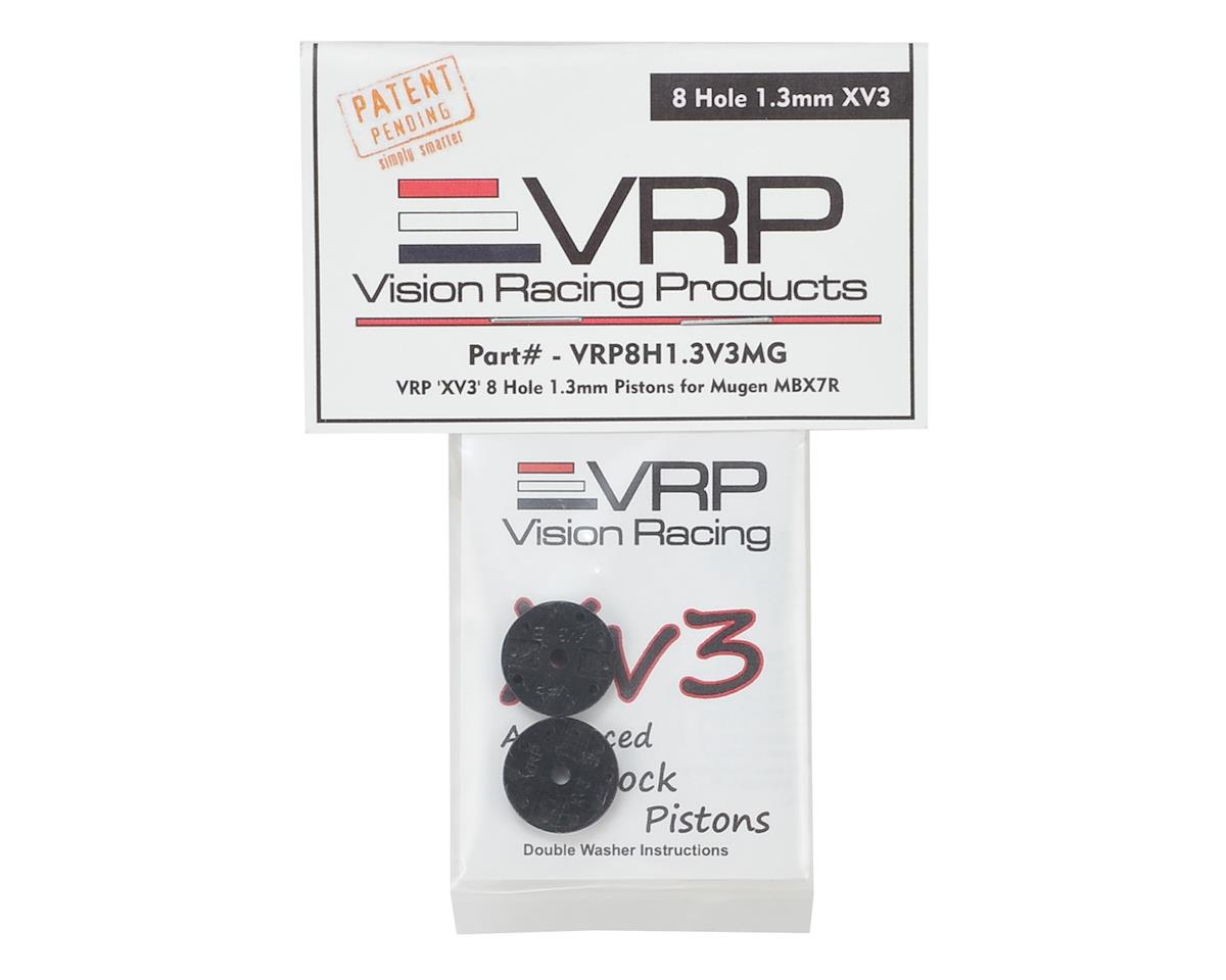 "VRP Mugen 1/8 ""X V3"" Shock Piston (2) (1.3mm x 8 Hole)"