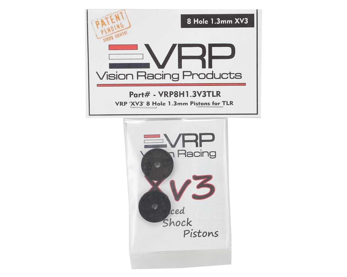"TLR 8IGHT 1/8 ""X V3"" Shock Piston (2) (1.3mm x 8 Hole) by VRP"