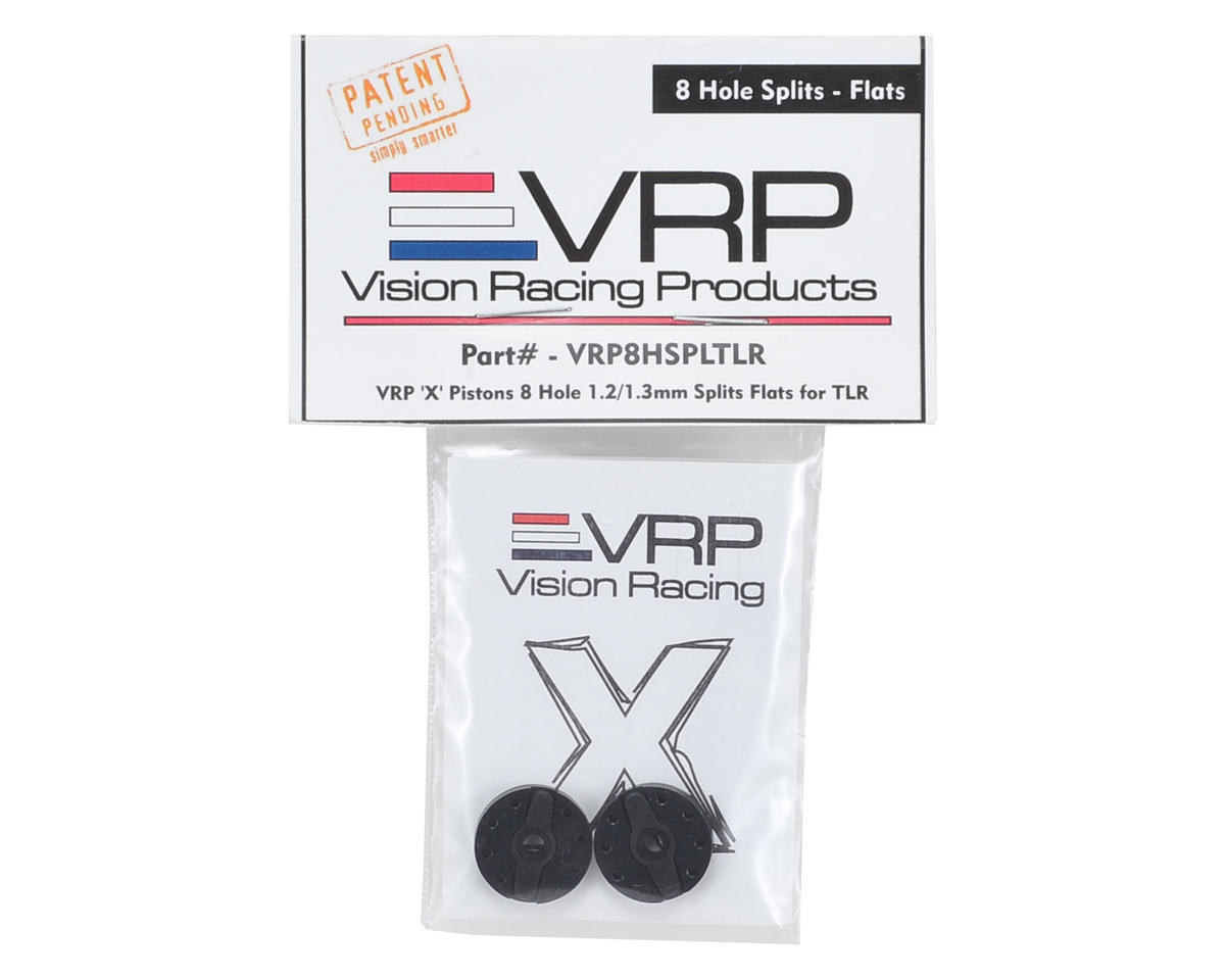 "VRP TLR 8IGHT 1/8 ""X V2"" Shock Piston (2) (1.2/1.3mm Splits x 8 Hole)"