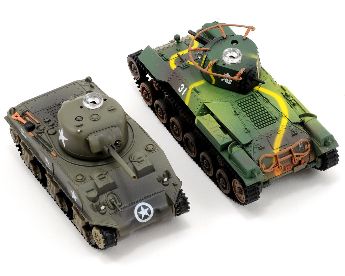VS Tank VSX 1/72 Battle Tank Combo w/Japanese Type 97 & US M4 Sherman Tanks