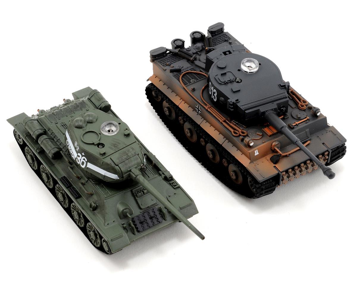 VS Tank VSX 1/72 Battle Tank Combo w/German Tiger I & Soviet T34 Tanks