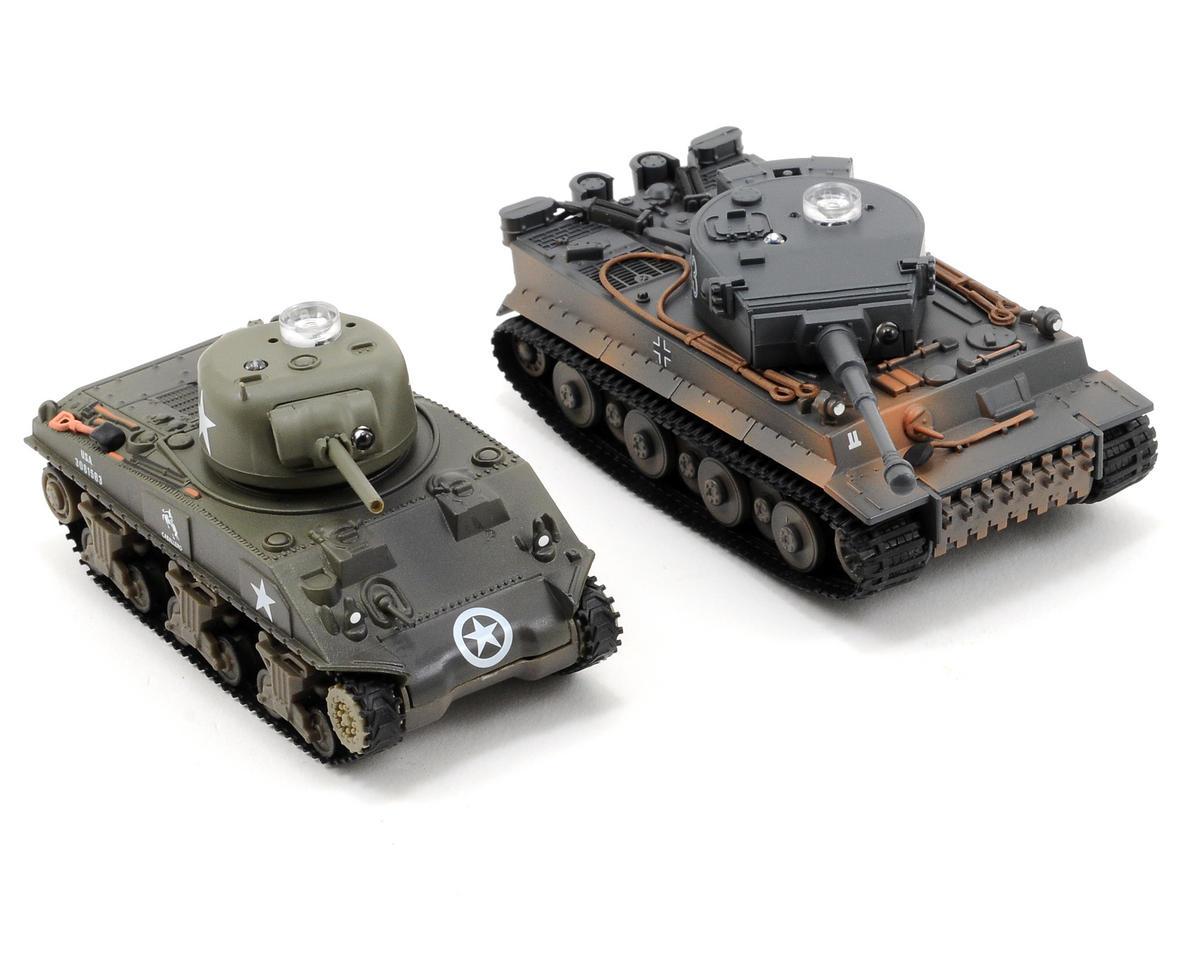 VS Tank VSX 1/72 Battle Tank Combo w/German Tiger I & US M4 Sherman Tanks  [VSKC1003] | Cars & Trucks