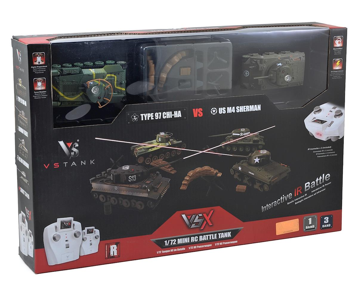 VS Tank VSX 1/72 Type 97/Sherman IR Battle Tank Set