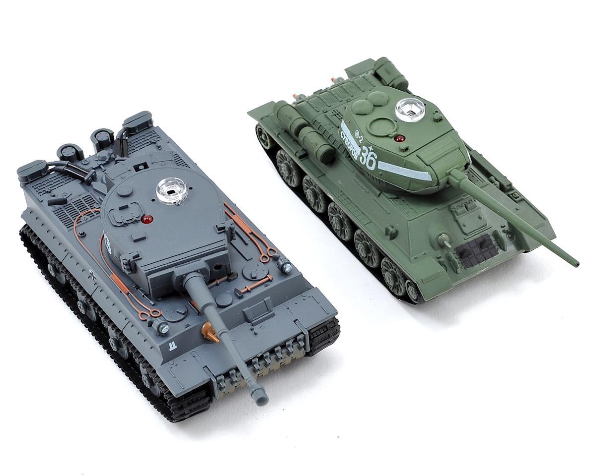 VSX 1/72 Battle Tank Combo w/German Tiger I & Soviet T34/85 Tanks