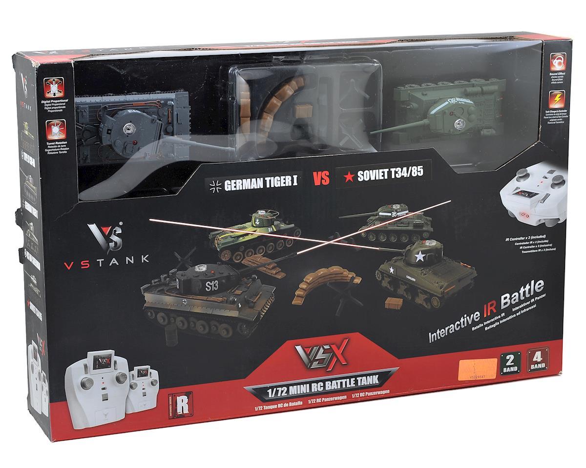 VS Tank VSX 1/72 Battle Tank Combo w/German Tiger I & Soviet T34/85 Tanks