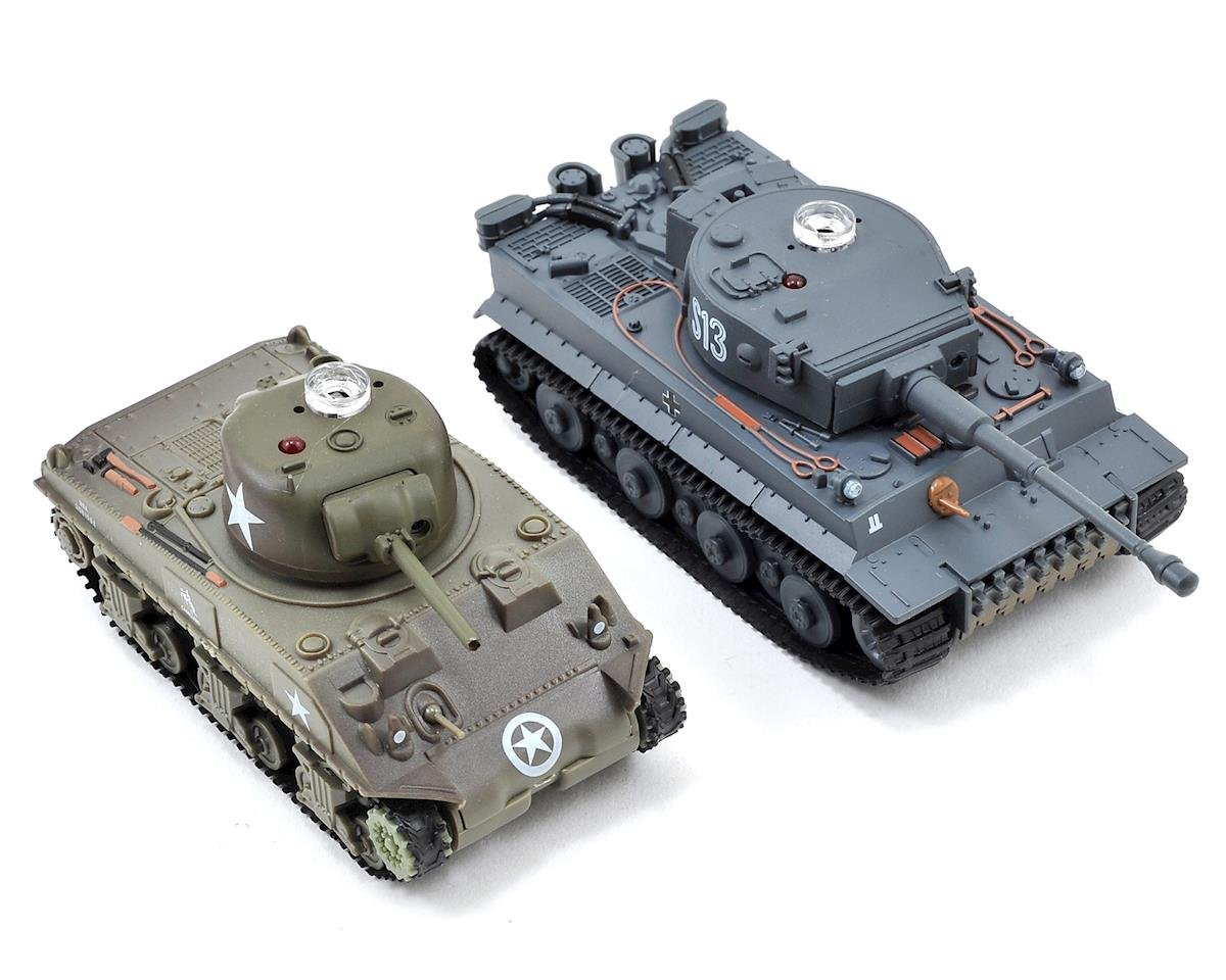 VS Tank VSX 1/72 Battle Tank Combo w/German Tiger I & US M4 Sherman Tanks