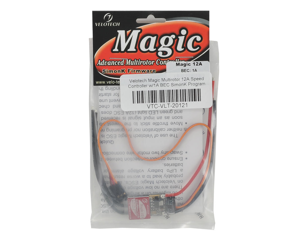 Velotech Magic Multirotor 12A Speed Controller w/1A BEC SimonK Program