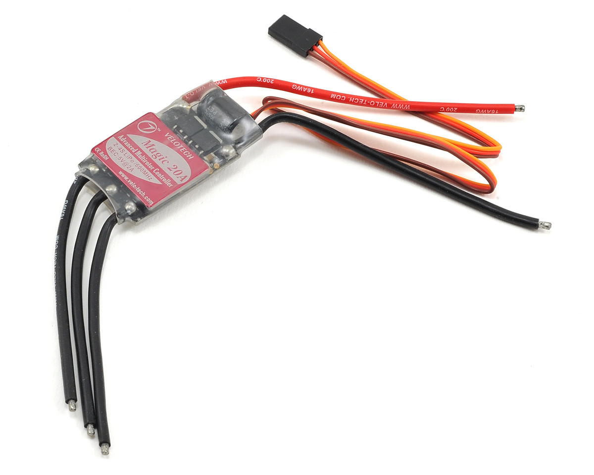 Velotech Magic Multirotor 20A Speed Controller w/2 Amp BEC & SimonK Program