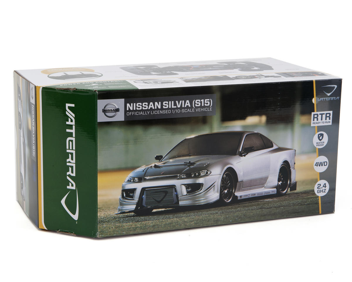 Vaterra Nissan Silvia S15 V100-C 1/10 RTR w/DX2E 2.4GHz, NiMH Battery & Charger