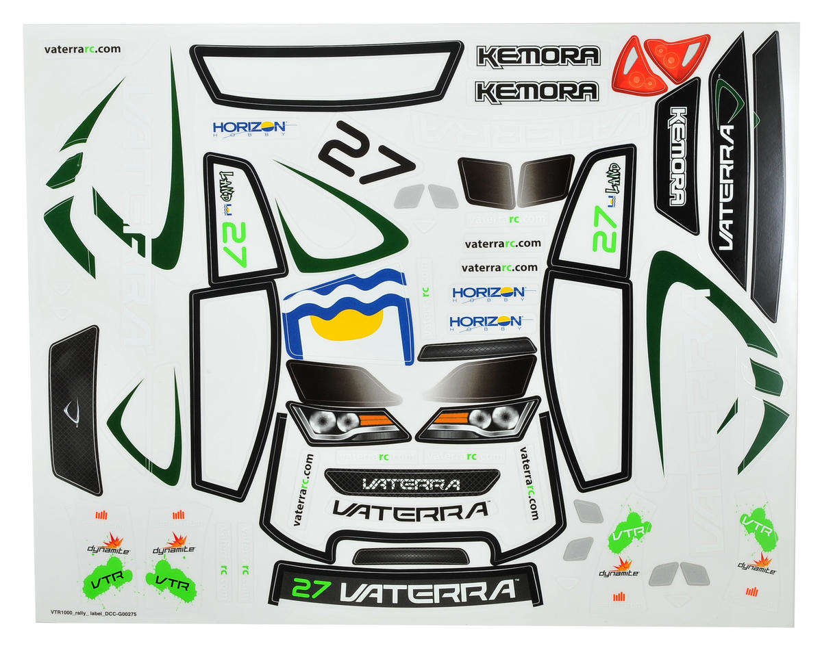 Vaterra Kemora Rally Cross Sticker Sheet