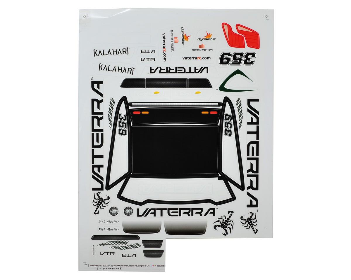 Vaterra Kalahari Desert Truck Sticker Sheet