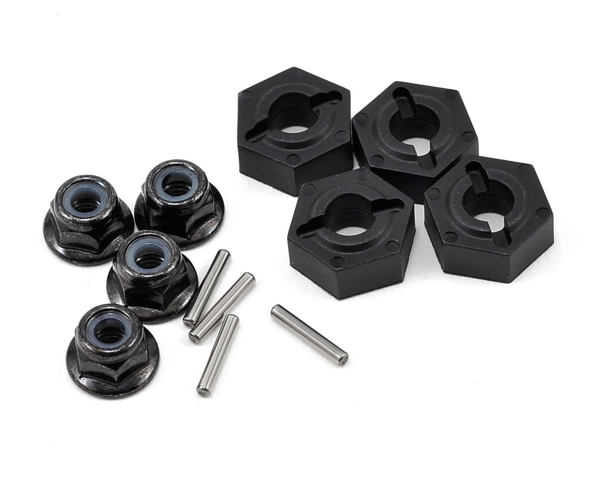 Vaterra 12mm Molded Wheel Hex w/Pins & Locknut (4)