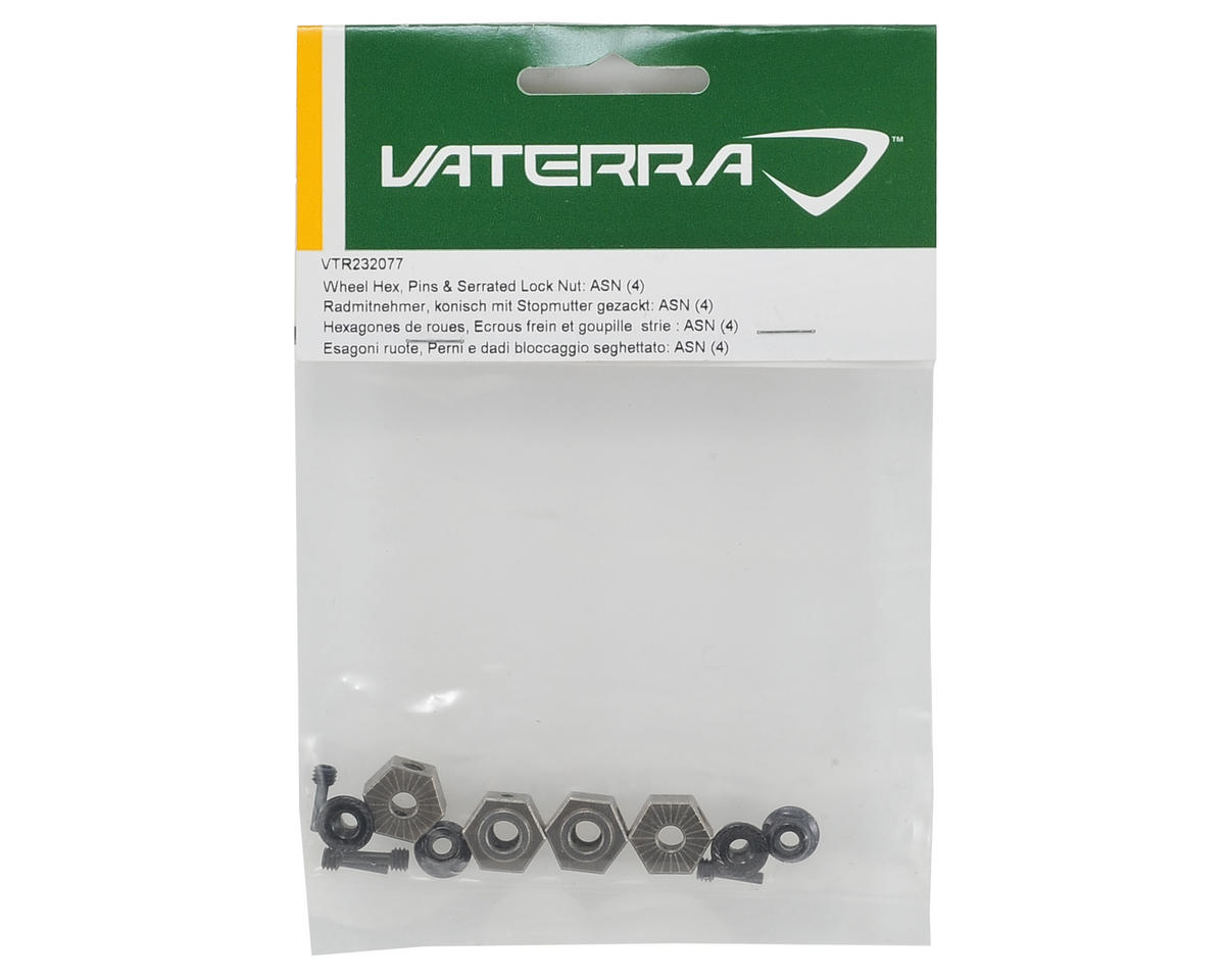Vaterra Wheel Hex, Pin & Lock Nut Set (4)
